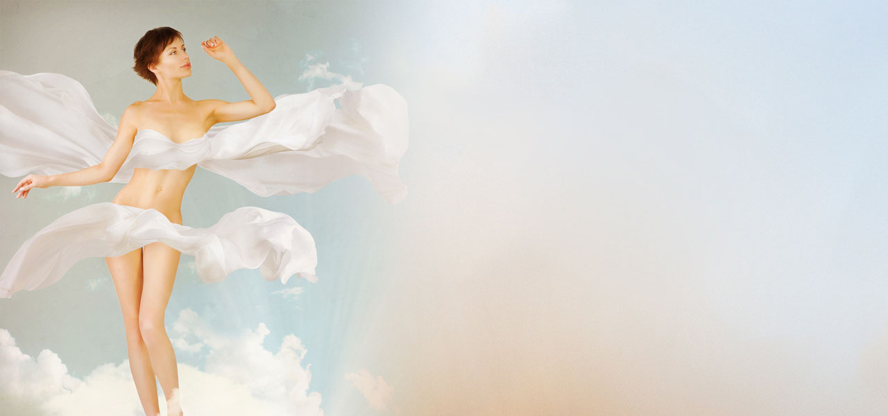 Weight Loss - Woman floating as light as a cloud.