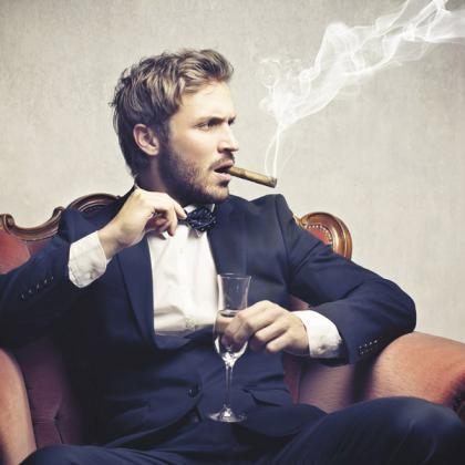 man chair smoking 132137897